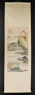 CHINESE HANGING SCROLL ART Painting Sansui Landscape  #E2174