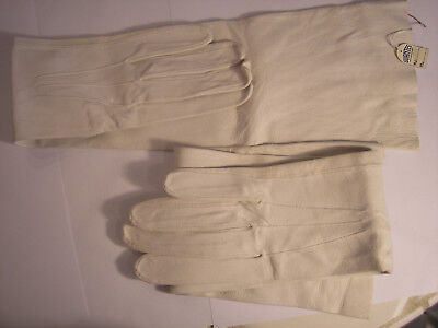 Ladies Opera, Prom, Wedding, Evening Gown, Long White Leather Gloves
