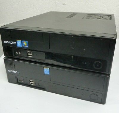 2 x Zoostorm SFF PC i3 4170 i3 4150 4GB DDR3 500GB HDD **NO OPTICAL DRIVE**