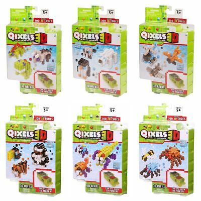 New Qixels 3D Refill Packs 300 Cubes Join With Water Creative Activity Official