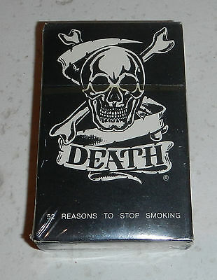 NEW Sealed Death by Cigarettes Stop Smoking Kills Deck of Playing Cards