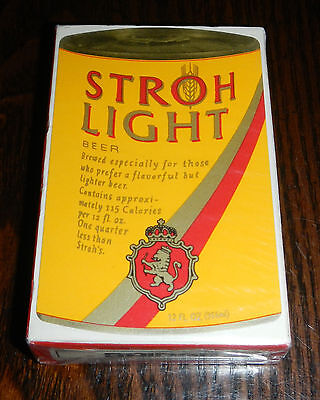 Vintage 1979 Sealed Deck of Stroh's Light Beer Can Playing Cards Stroh Brewery