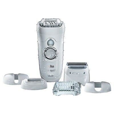 Braun Silk-épil 7 Cordless Epilator Shaver+Bikini Trimmer Wet & Dry Women SE7561
