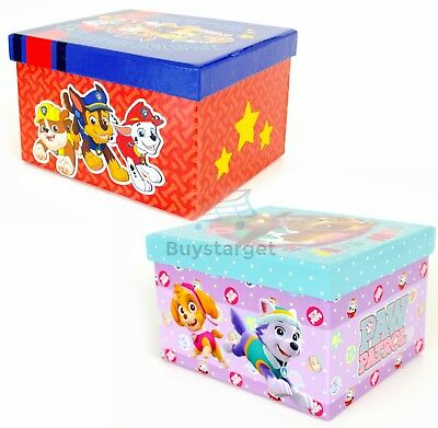 Kids Money Box Boys Girls Paw Patrol Keepsake Box Birthday Gift Nickelodeon Toy