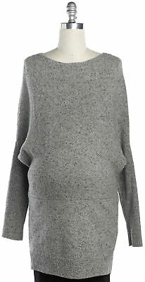 HATCH Gray Long Sleeve Scoop Neck Sweater Dress Size One Size