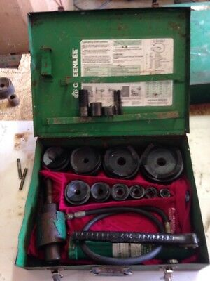 "Greenlee 7310  ½""-4"" Conduit Hydraulic Knockout Punch Set 767 Pump 746 Ram #3760"
