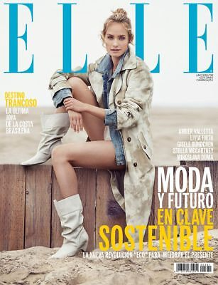 ★ ELLE ESPAÑA Revista Magazine Juny 2018 - Amber Valletta on cover - NEW NUEVA