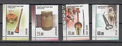 Kyrgyzstan Kirgistan MNH** 2011 Mi.681-684 A National Music Instruments