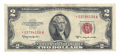 1953 C United States of America $2 United States Star Note *03794158A