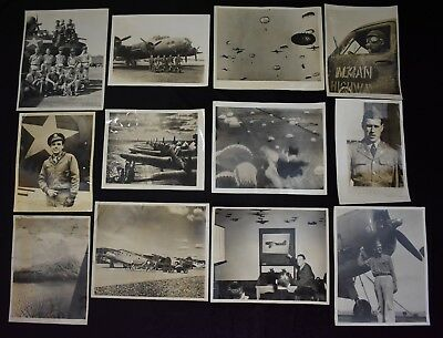 Vintage 1940s WWII Aviation Bomber Wire Photo Lot From SF Examiner Files (12)