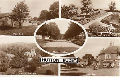 Old Brittain & Wright Postcard 1954 - Hutton Rudby - Multiview - North Yorkshire
