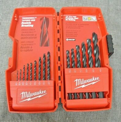 Milwaukee Thunderbolt Tapered Web Drill Bits In Red Case (5752-34(4C)