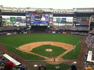 1-4 Los Angeles Dodgers @ Milwaukee Brewers 2018 Tickets 7/20/18 Sec 422 Miller