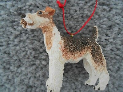 Vintage Wire Terrier Resin Ornament