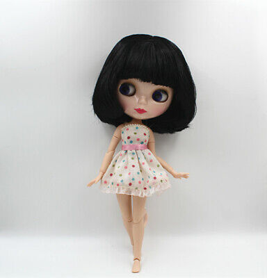 """12/"""" Neo Blythe doll nude Short Green mix bang hair JD1015 from facotry Xmas gift"""