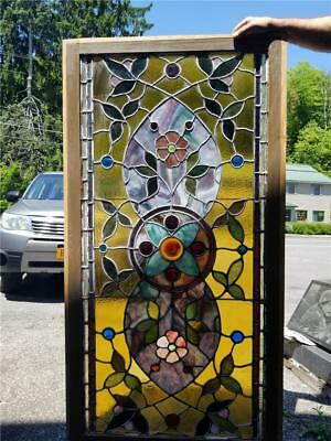 Beautiful Antique Victorian Stained Glass Window From A Local Estate - Jj1
