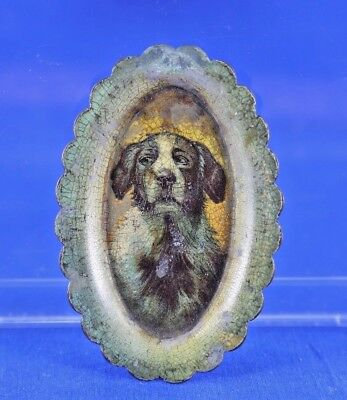 Antique Advertising Tin J.b. Walsh Shoe Company Litho Tray With Dog Portrait