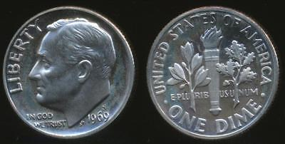 United States, 1969-S Dime, Roosevelt - Proof