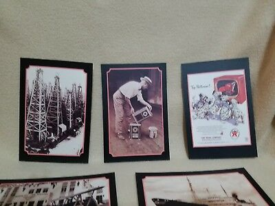 Texaco reproduction postcards- 7; originals from 1903 - 1952