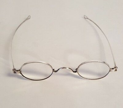 Antique Sterling Coin Silver Spectacles Reading Glasses