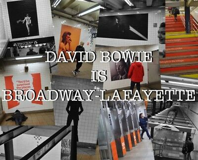 David Bowie is Broadway-Lafayette postcards NYC Metro Subway New York Brooklyn