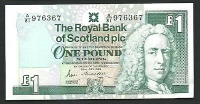 SCOTLAND 1 Pound, 1989, P 351a, aUNC World Currency