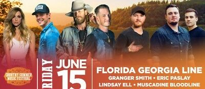 2 Tickets For Florida Georgia Line Country Summer Concert Tickets