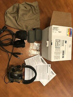 New! 3M™ PELTOR™ ComTac™ ACH, 2ptt Coyote Brown Communication Headset  DUAL COMM