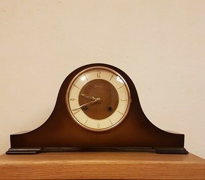 Vintage German Franz Hermle FHS Mantle Clock with Original Key