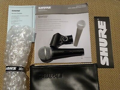 Shure SM58 Professional Dynamic Handheld Wired Microphone with on/off Switch