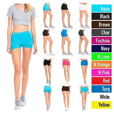 1 3 6 Pack Women's Legging Sports Yoga Shorts Workout Bike Jogging Gym Active