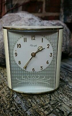 German Kienzle Art Deco Musical Alarm Clock Plays harry Lime Theme