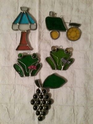 Vintage Stained Glass Suncatcher (leaded) Lot of 5 (#2)