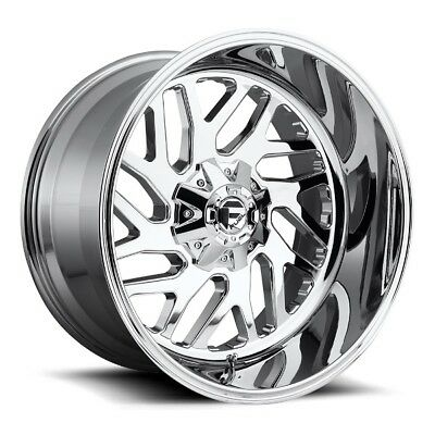 22x12 FUEL D609 6x135/5.5 ET-43 Chrome Rims New Set (4)