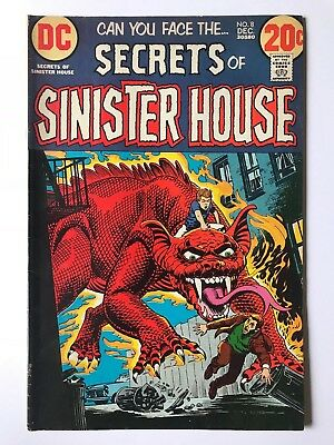 Secrets of Sinister House #8 DC Comics December 1972 VG+