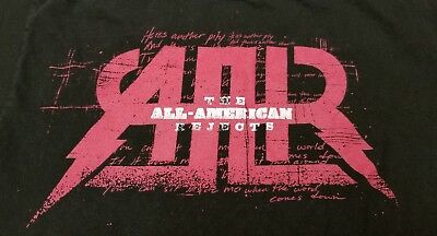 """THE ALL-AMERICAN REJECTS """"I WANT TO ROCK!"""" Concert Tour (MED) T-Shirt"""