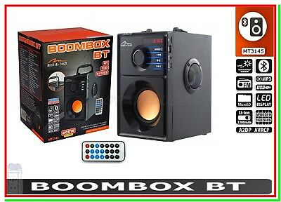 Altoparlante Speaker Cassa Bluetooth Portatile Amplificata USB MP3 BOOMBOX 3145
