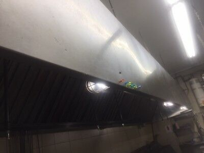 18' Stainless Steel Commercial Restaurant Kitchen Line Exhaust Grease Hood Vent