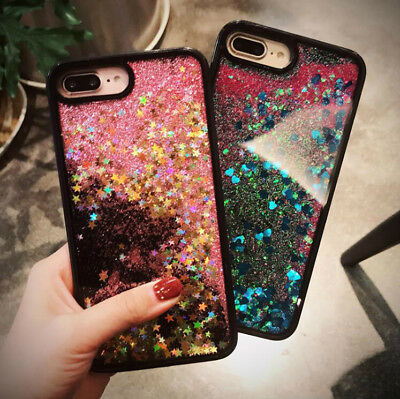 Glitter Bling Sparkle Hard Case for iPhone X 8 7 6 6S Plus Cover Slim Shockproof