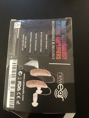 Sound Aids Hearing Amplifier Digital Adjustable Tone Small Rechargeable Pair