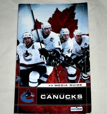 Vancouver Canucks 2002/2003 Media Guide