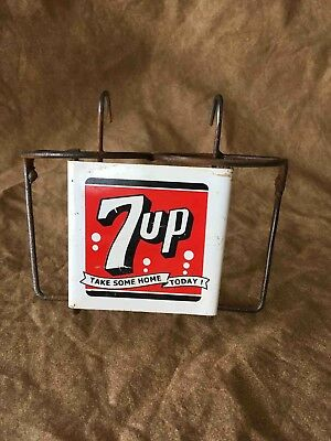 Vintage Take Some Home Today Bottle Grocery Shopping Cart 2 Bottle Ad  Holder