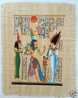 Papyrus Painting From Egyptian Art Caravan of King Tut & the gods