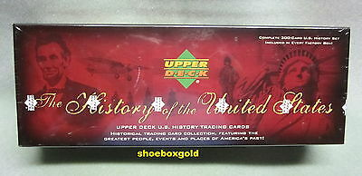 USA HISTORY FACTORY SEALED Trading Card SET (300), Upper Deck