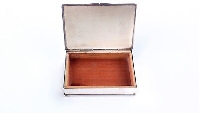 Early 1900s Friedman Silver Company Silver plated humidor