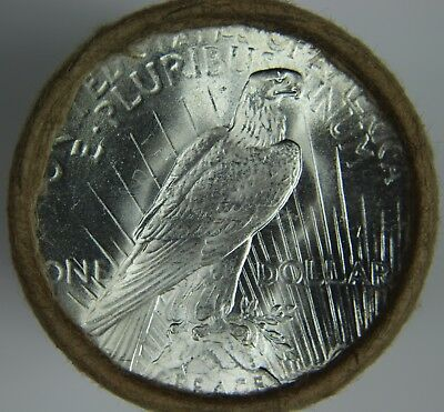 """$20 Silver Peace Dollar Roll BU Uncirculated Unc """"P"""" Mint Ends 90% Silver O59"""