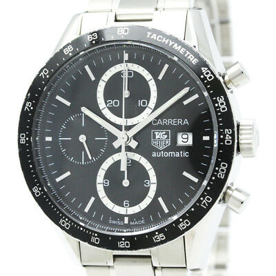 TAG HEUER Carrera Chronograph Steel Automatic Watch CV2010 BF320495