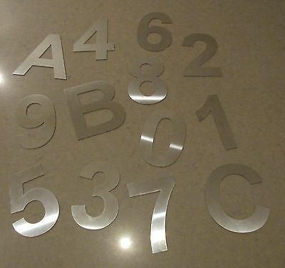 Stainless House Letterbox Numbers 100mm High 2mm Thick Brushed 316 Marine Grade