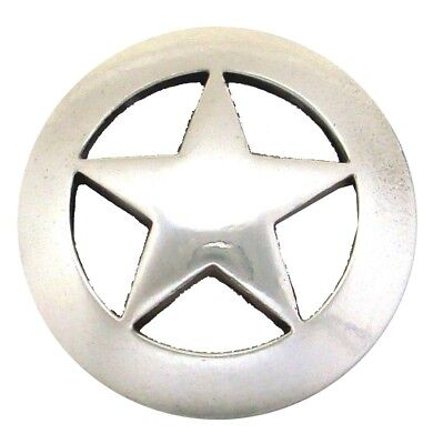 """1 1/2"""" (38mm)  Antique Polished Silver Star Concho"""