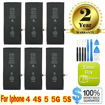 New OEM  Replacement Internal Battery for Apple iPhone 4 4s 5 5c 5s  + Tools Kit